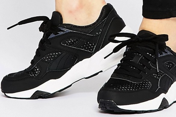 Black trainer by Puma