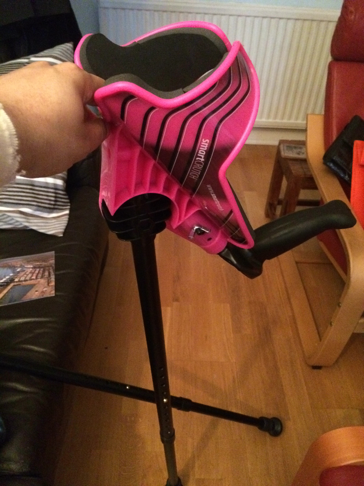My amazing pink SmartCRUTCH and how it has helped me