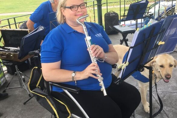 Jennifer with her flute